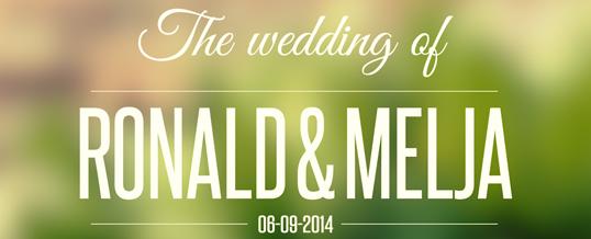 Bruidsreportage Ronald en Melja